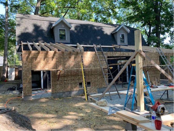 Gararge addition Pittsford NY MDM Construction 03