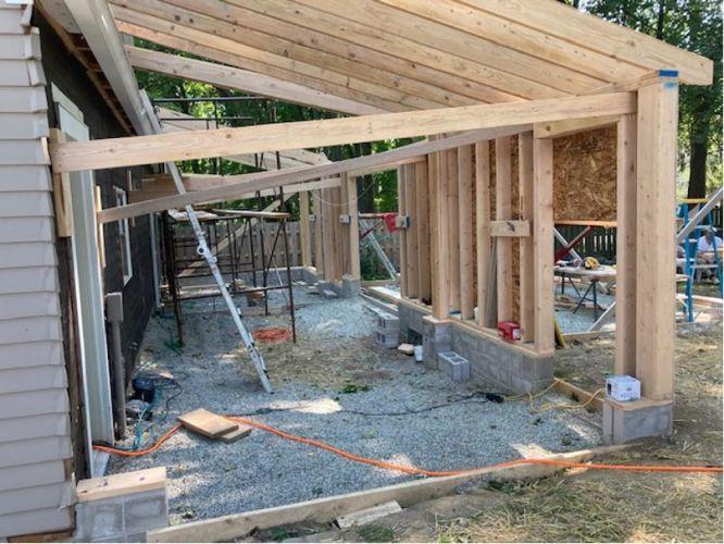 Gararge addition Pittsford NY MDM Construction 02